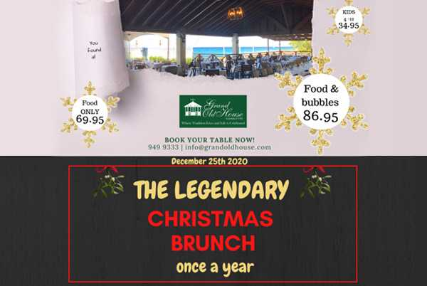 Christmas Brunch Near Me 2020 The Legend Returns: The 2020 Grand Old House Christmas Brunch