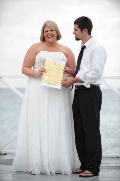 Hayli And Alex  Intimate Wedding At Sun Set Image - 6