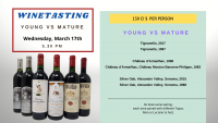 Wine tasting YOUNG vs MATURE