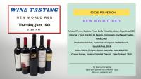 Wine tasting - NEW WORLD RED