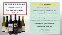Winetasting FRANCE vs ITALIA