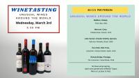 Winetasting - unsual wines around the world