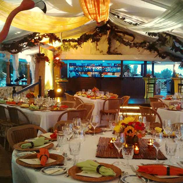 A Christmas Party Theme at a Cayman Restaurant