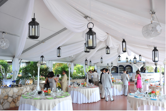 A Wedding Reception at the Grand Old House, Cayman Islands